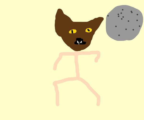 Werewolf mid-transformation
