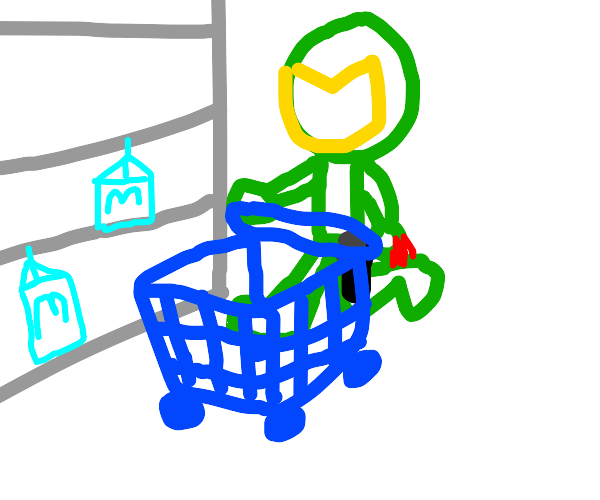 Doomguy goes grocery shopping