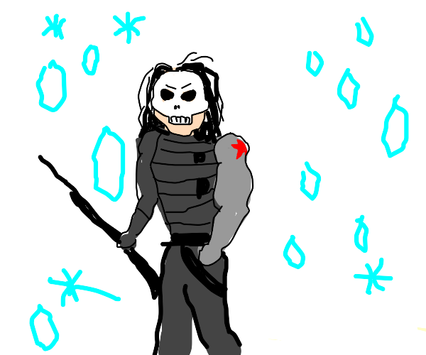 Winter Soldier with skeletal mask