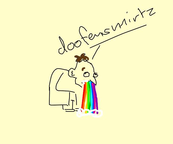 Doofenshmirtz Throws Up Rainbow