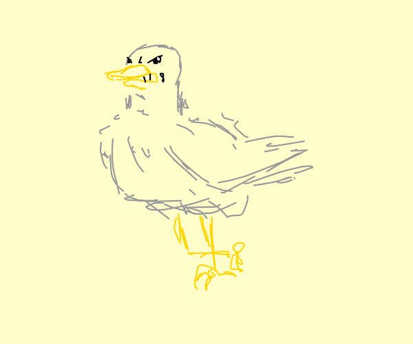 Extremely evil duck