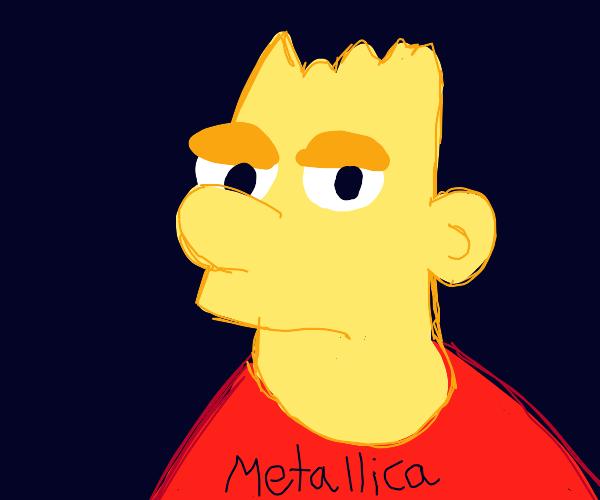 Bart Simpson in Metallica tshirt