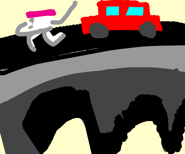 Yogurt crossing the Highway