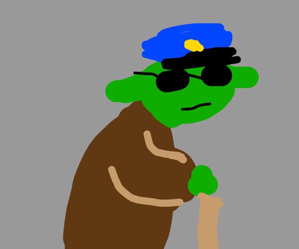 Yoda as a cop