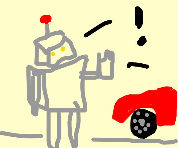 Robot stopping traffic