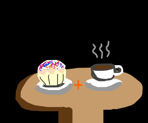 cupcake and coffee snaks