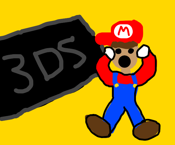 Mario has found the OVERSIZED DS!