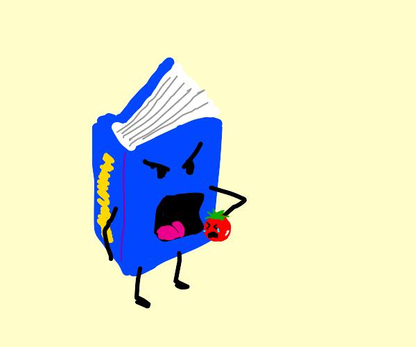 Book eats tomato
