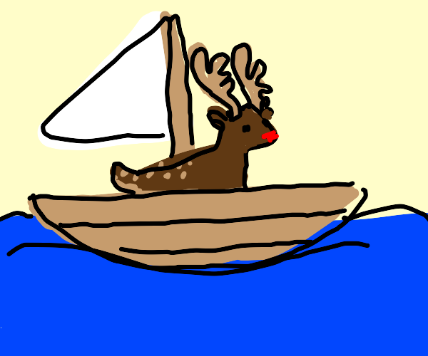 Reindeer Sailing
