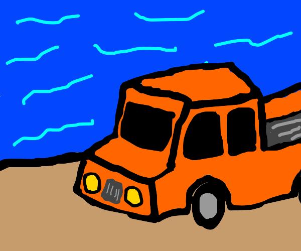 Truck at the beach