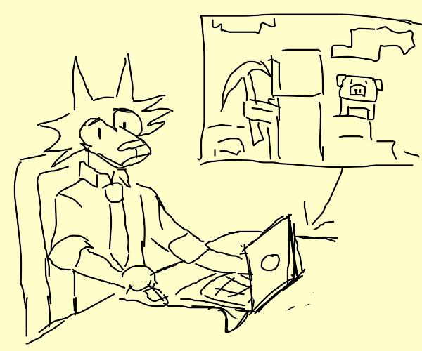 legosi playing minecraft