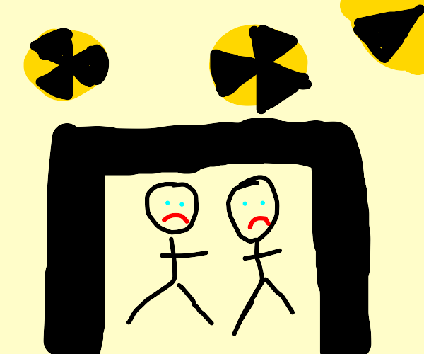 two people in nuclear fallout shelter