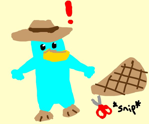 perry the platypus got his tail chopped off