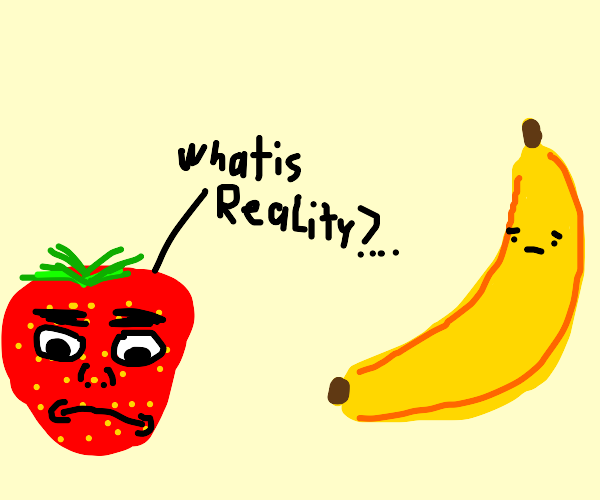 strawberry questions reality to purple carrot