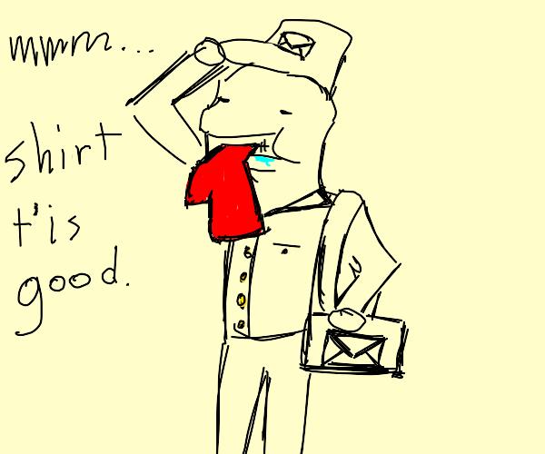 mailman tastes shirt