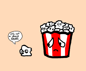 Goth popcorn