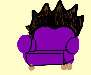 Hairy sofa