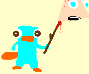 platypus thing with a stick