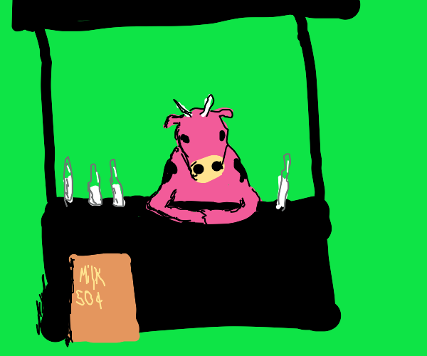 Rose Cow Sells Milk