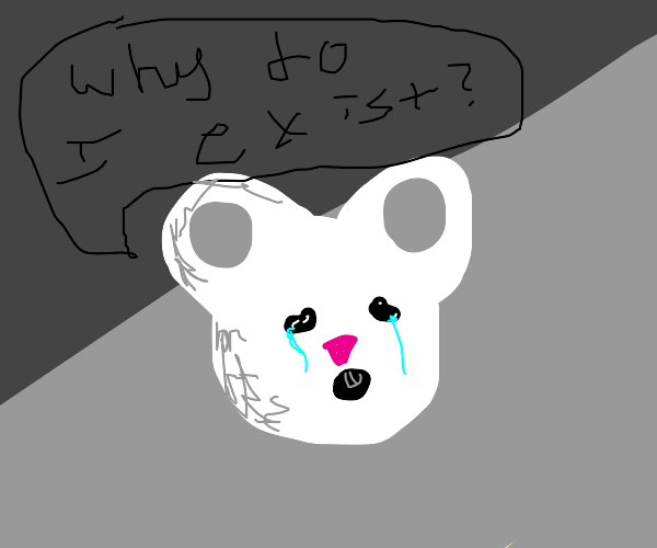 mouse questioning its existence