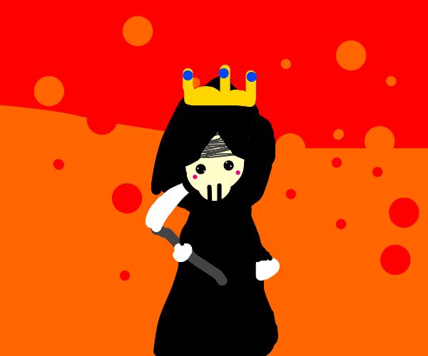 Death wears a crown