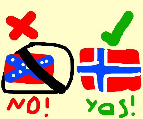 That's not the rebel flag...I'm Norwegian!