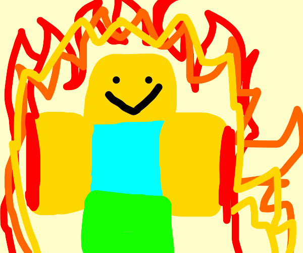 Roblox man on fire and lovin it