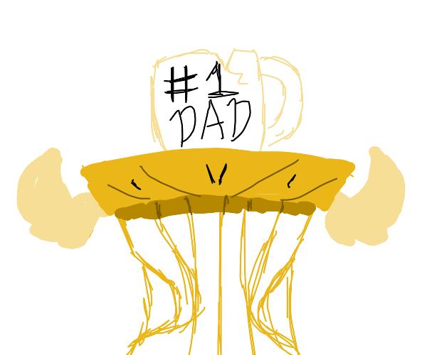 #1 Dad mug on Pedestal