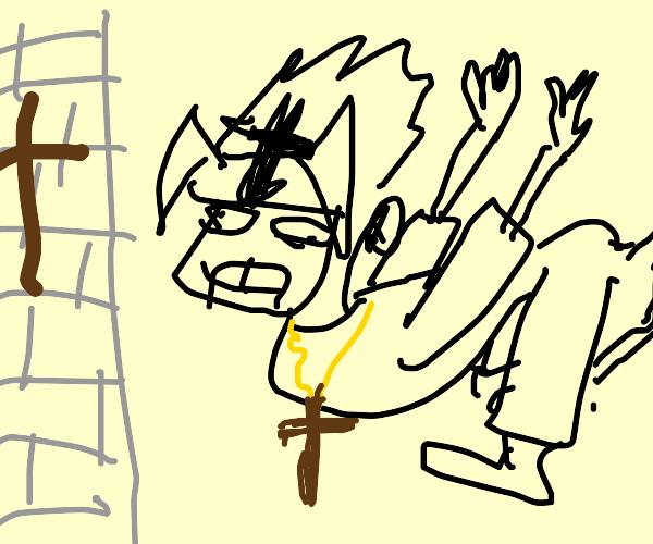 Sasuke has become Catholic