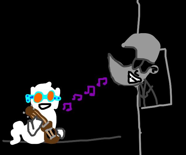 ghost elton john serenades mcdonalds moonguy