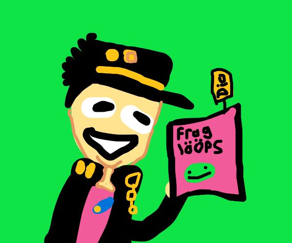 jotaro has dio's froggy flavored fruit loops