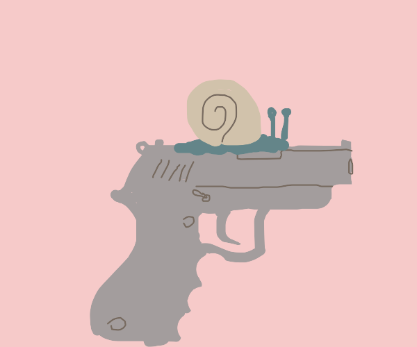 Snail on gum