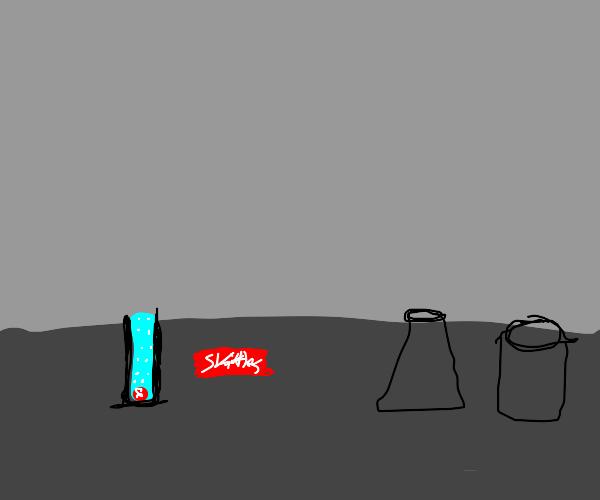 Skittle melting in test tube