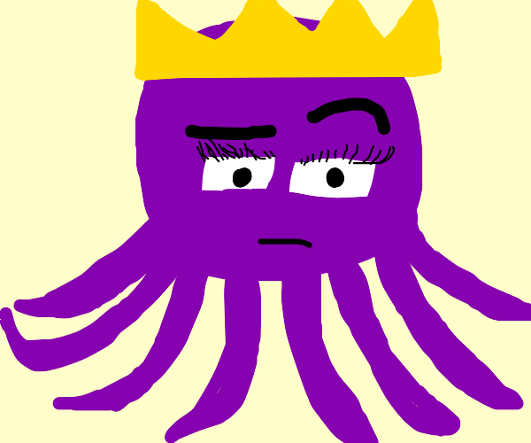 suspicious octopus queen