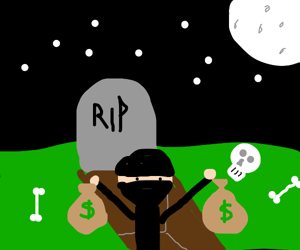 A grave robber finding a fortune
