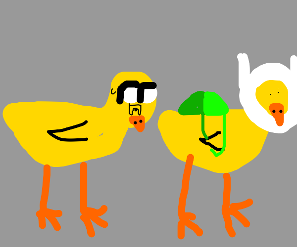 jake the duck and finn the duck