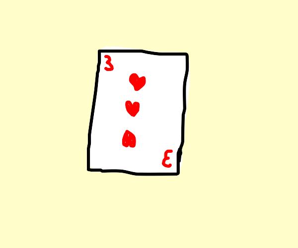 3H playing card