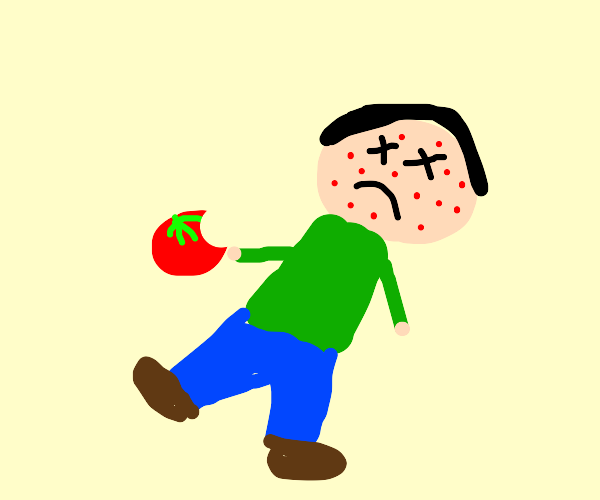 Bro was allergic to tomatoes, Died