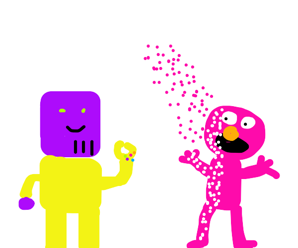 Thanos going after Elmo