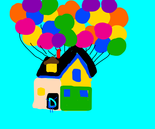"""Drawception D in the house from """"Up"""""""
