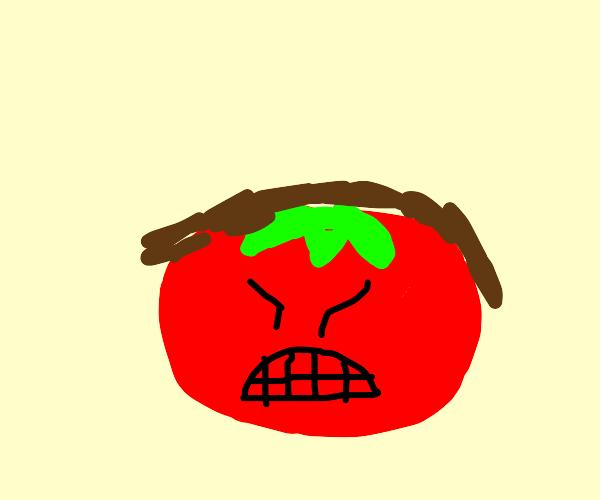 The angriest un-bald tomato