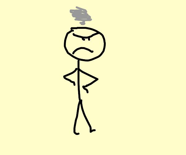 disgruntled stickman