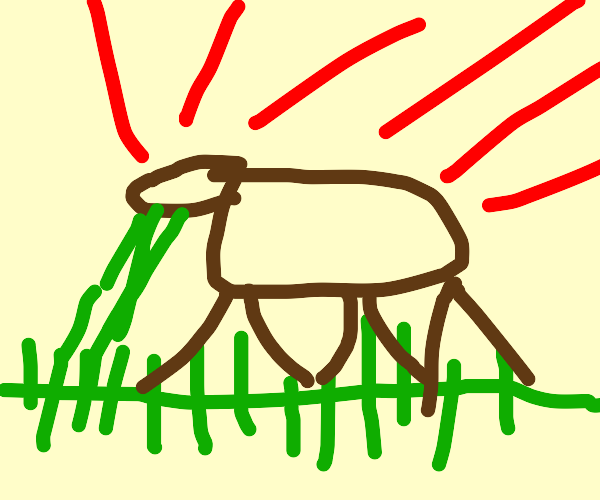 chernobyl mutated cow eating grass