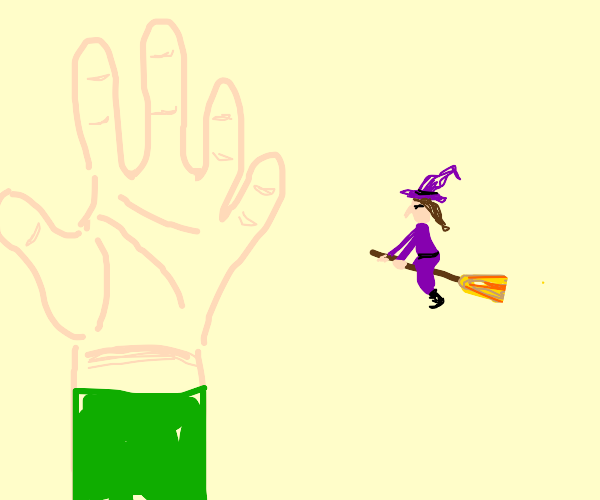 tiny witch (smoller than hand)
