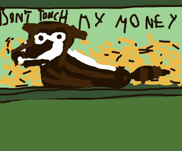 raccoon that hoards money like a dragon