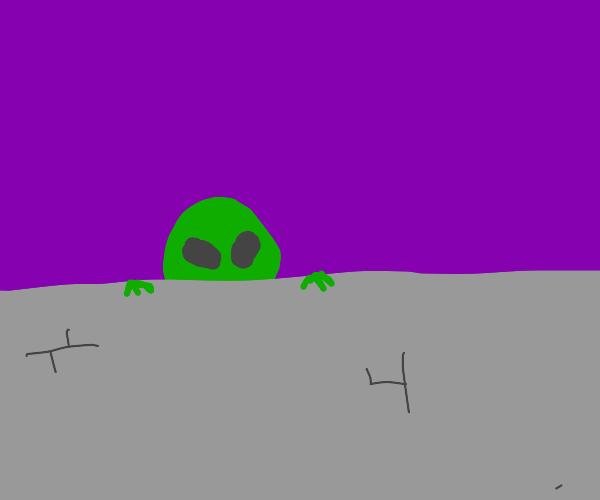 Alien hiding