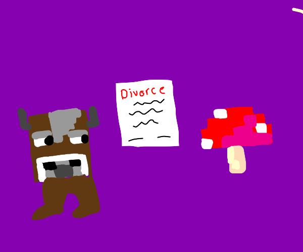 minecraft cow and mooshroom get a divorce