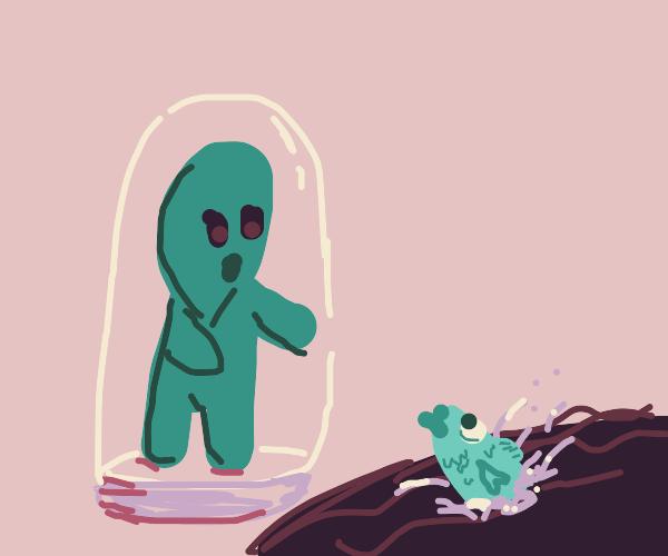 Alien meets fish