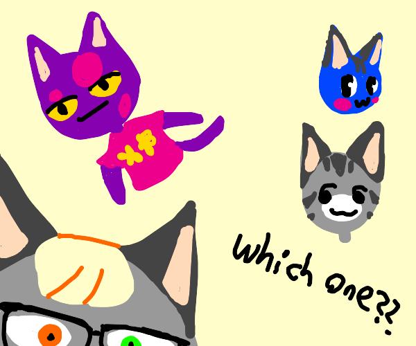 Cat from animal crossing