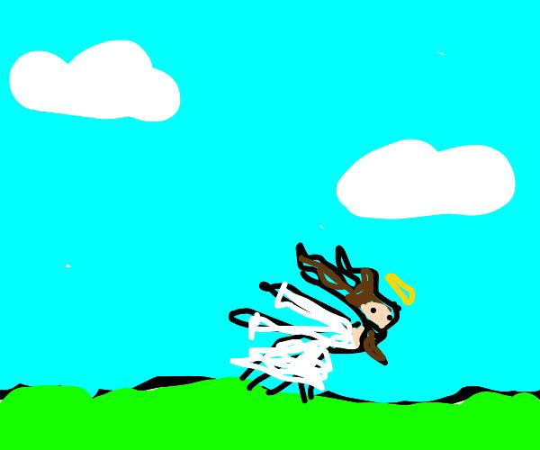 jesus naruto running through green fields